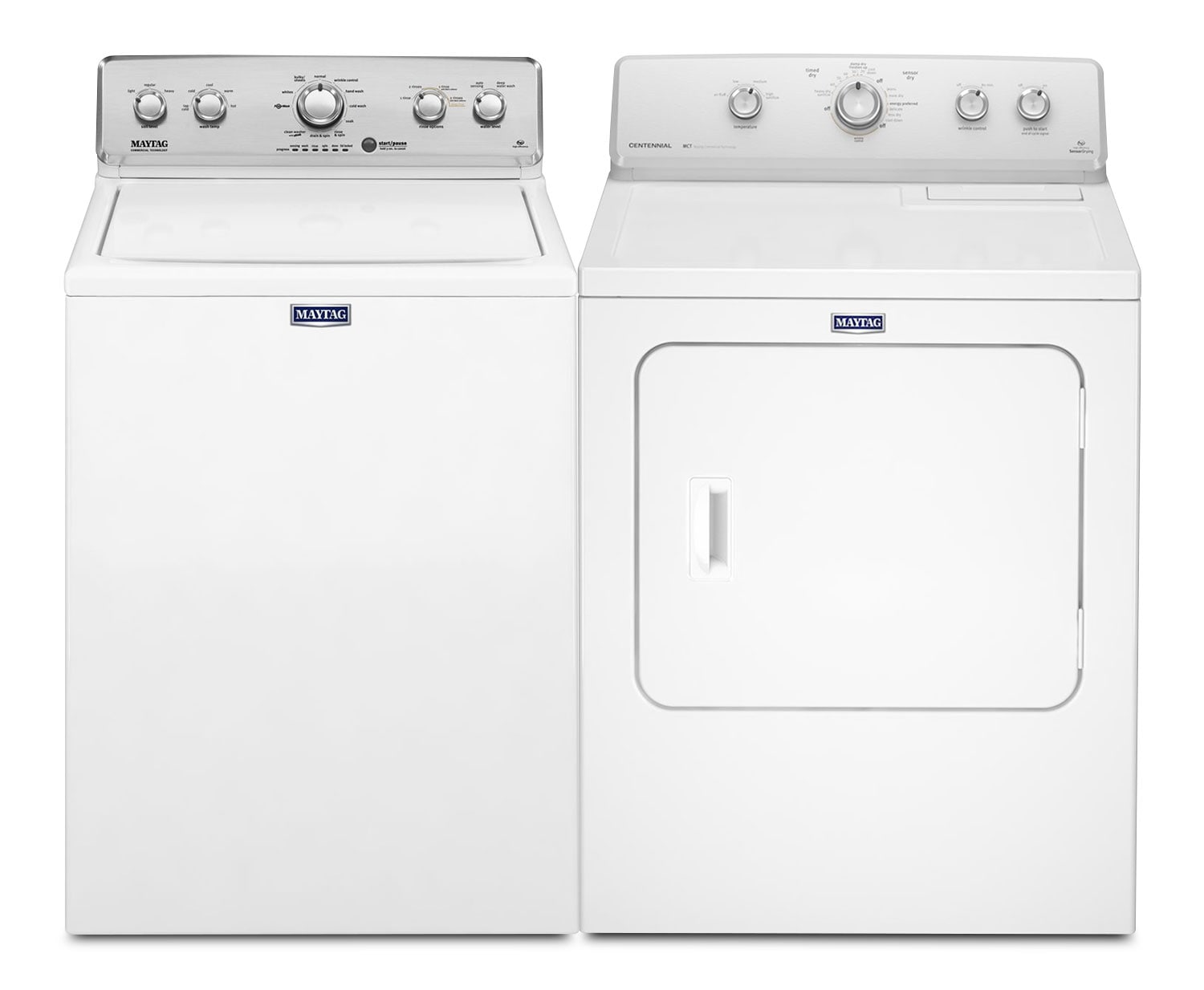 Washers and Dryers - Maytag 3.6 Cu. Ft. Top-Load Washer and 7.0 Cu. Ft. Electric Dryer – White