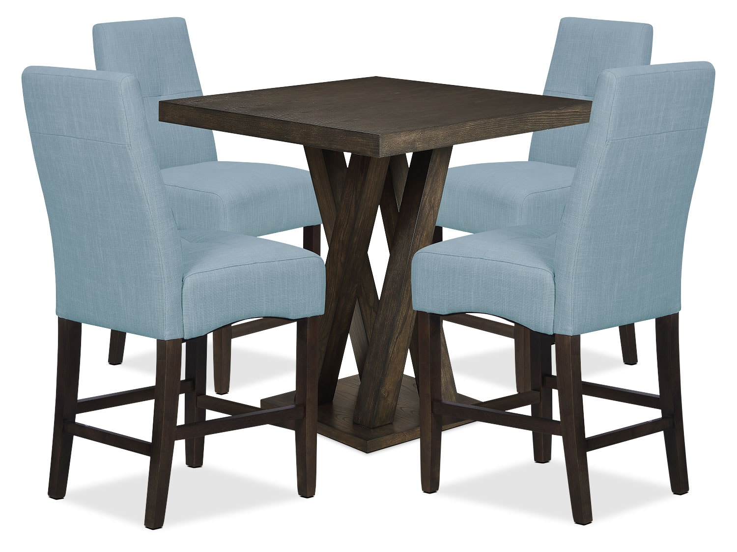 Dining Room Furniture - Soho 5-Piece Counter-Height Dining Package – Blue