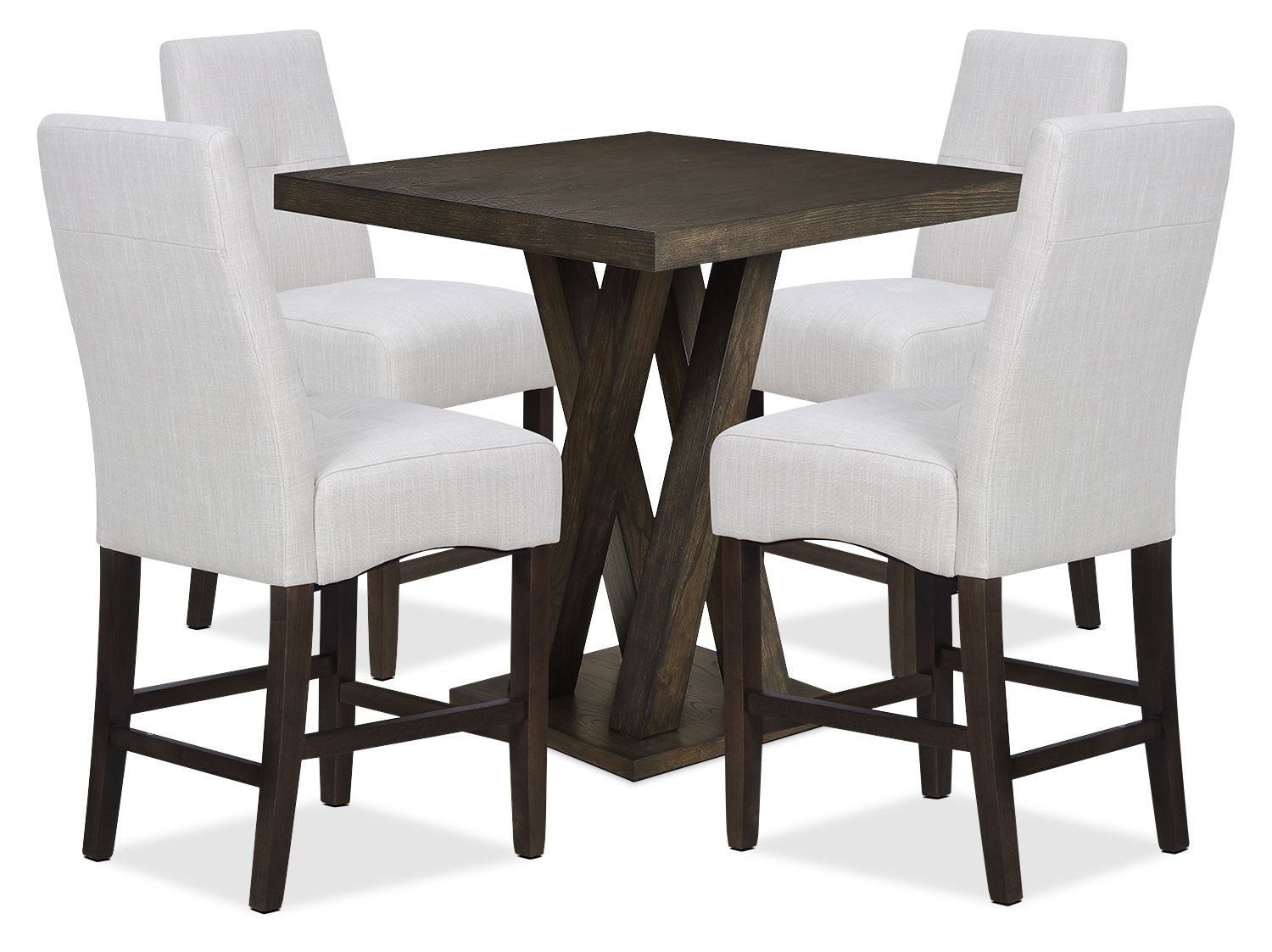 Dining Room Furniture - Soho 5-Piece Counter-Height Dining Package – Ivory
