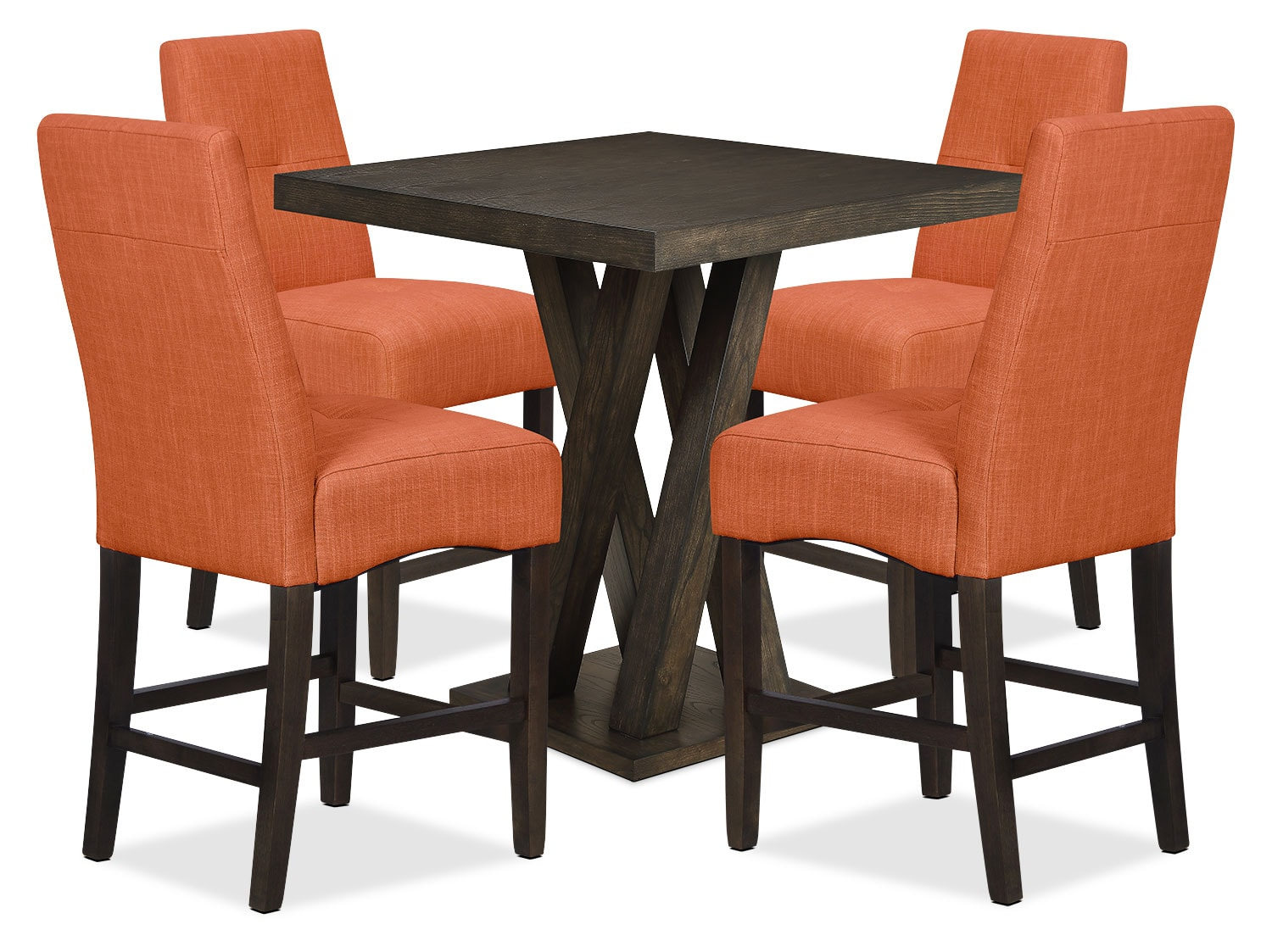 Soho 5-Piece Counter-Height Dining Package – Tangelo