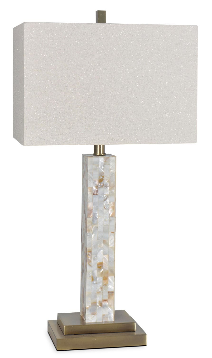 "Accent and Occasional Furniture - Mother Of Pearl 27"" Table Lamp - Beige"