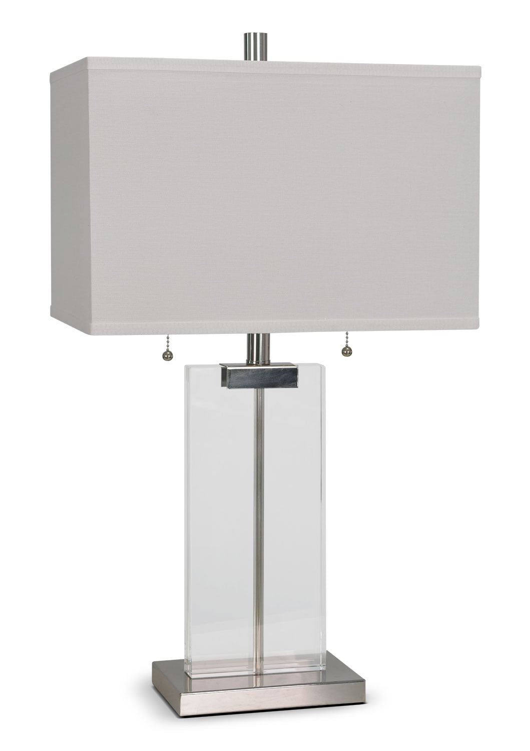 "Accent and Occasional Furniture - Nikki 26"" Table Lamp - Silver and Clear"
