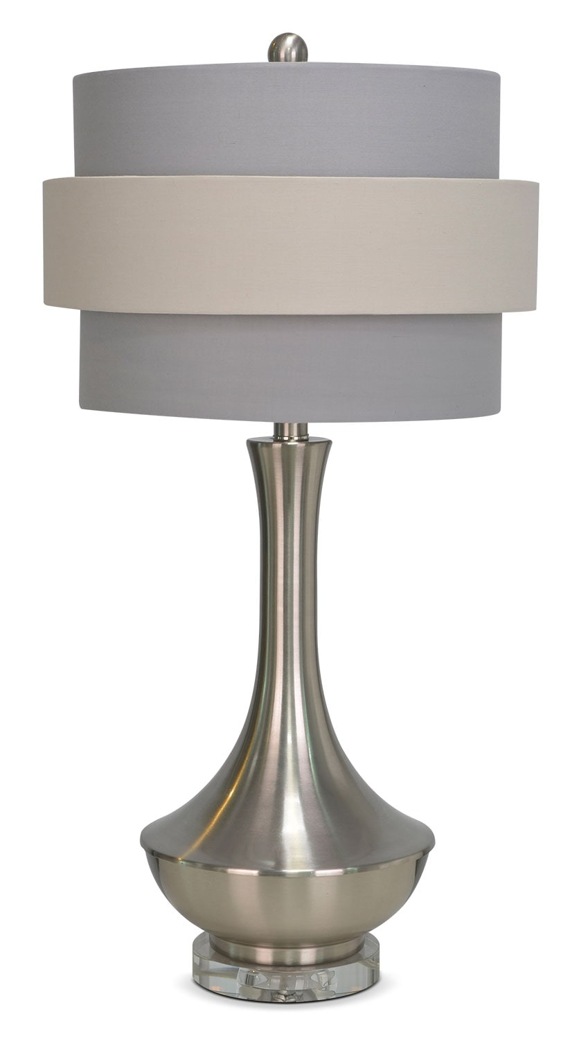 """Accent and Occasional Furniture - Joan 26"""" Table Lamp - Silver and Grey"""