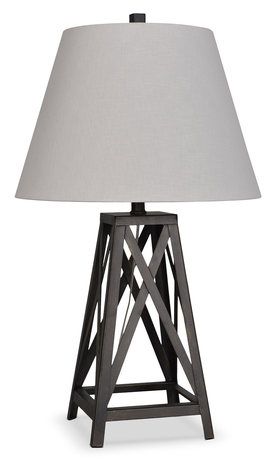 "Accent and Occasional Furniture - Jackson 29"" Table Lamp - Black"