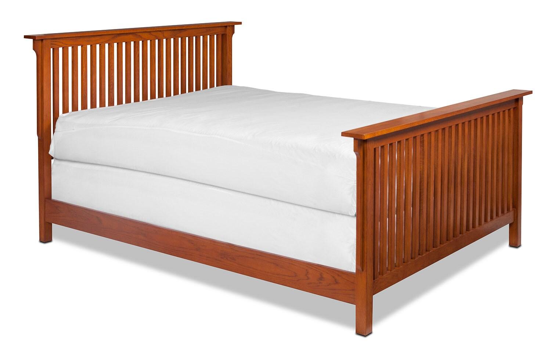 Highlands King Bed - Oak