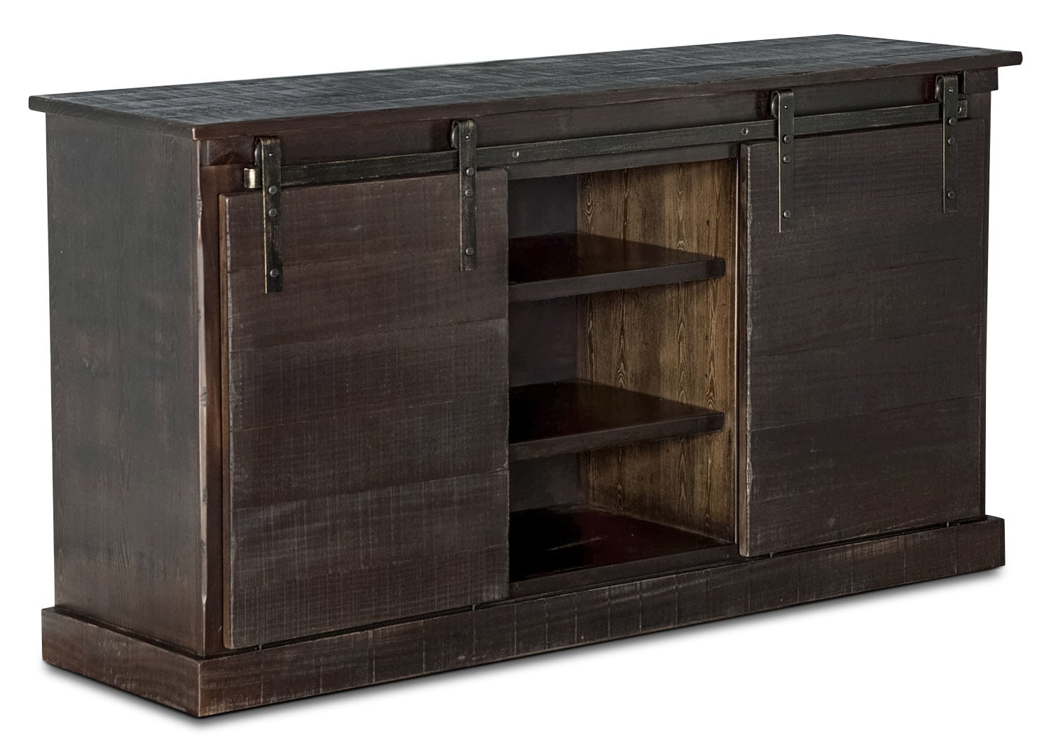 "Entertainment Furniture - Tortosa 65"" TV Stand with Barn Doors"