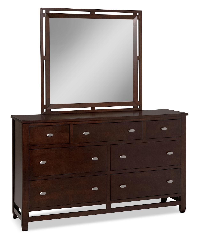 Rockland 4 piece queen bedroom set merlot levin furniture for Bedroom furniture packages sale
