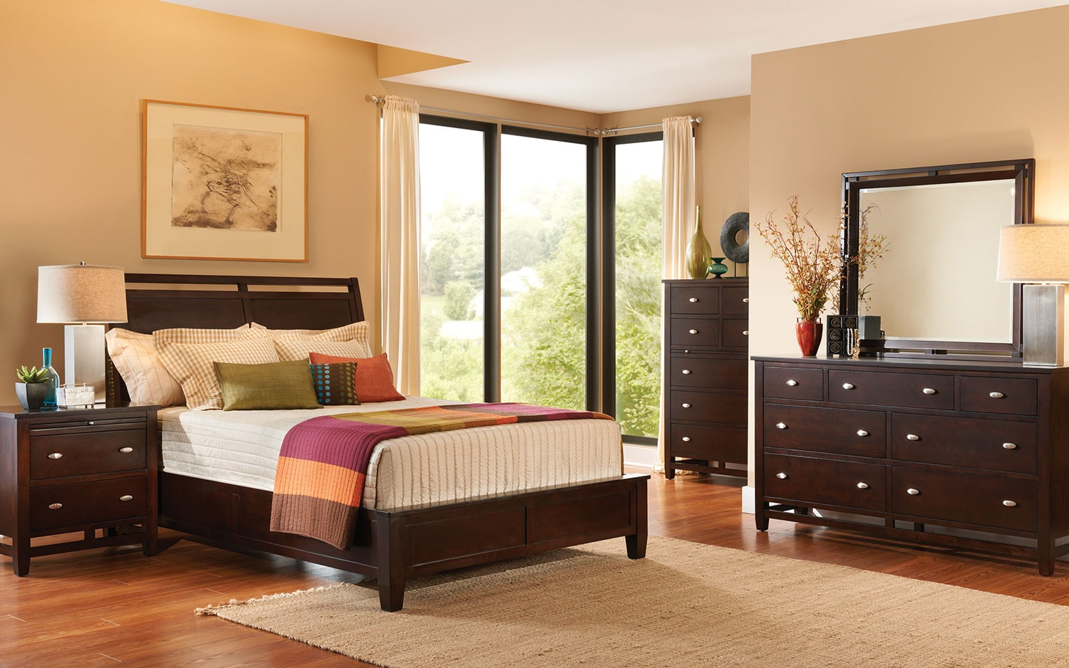 Levins Bedroom Furniture Rockland Queen Bed Merlot Levin Furniture
