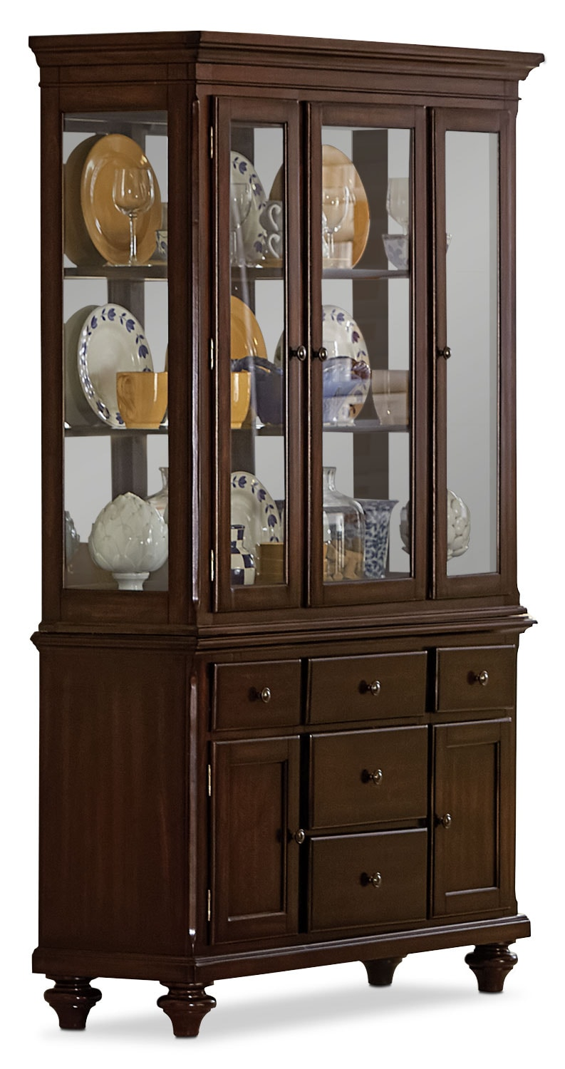 Dining Room Furniture - Alice Buffet and Hutch - Cherry