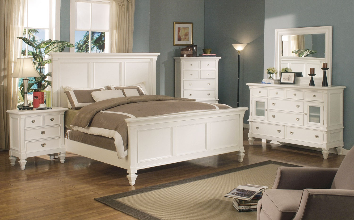 shannon 4-piece twin bedroom set - white | levin furniture