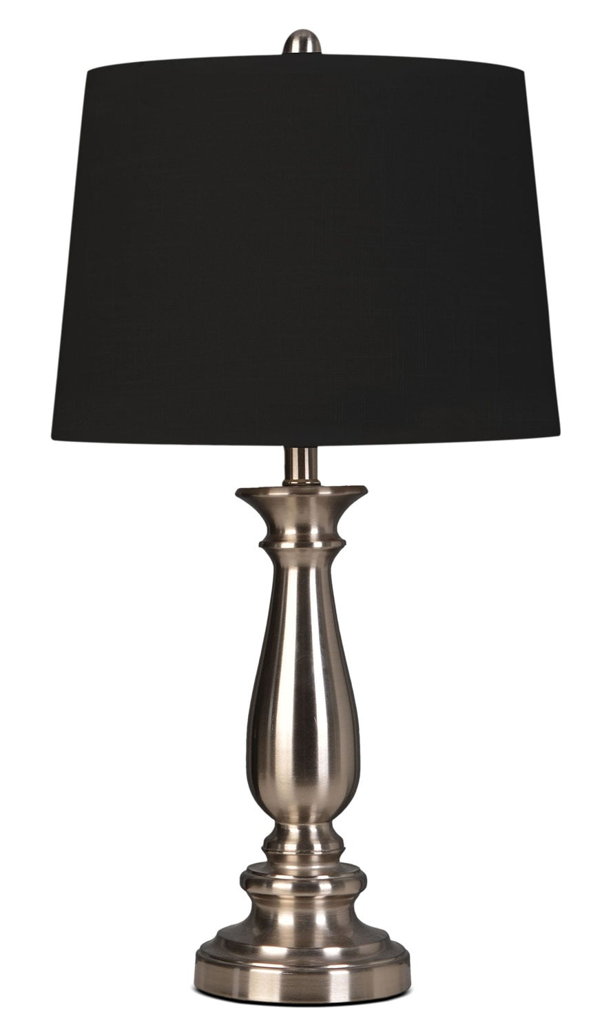 "Accent and Occasional Furniture - Lawrence 25"" Table Lamp - Chrome"