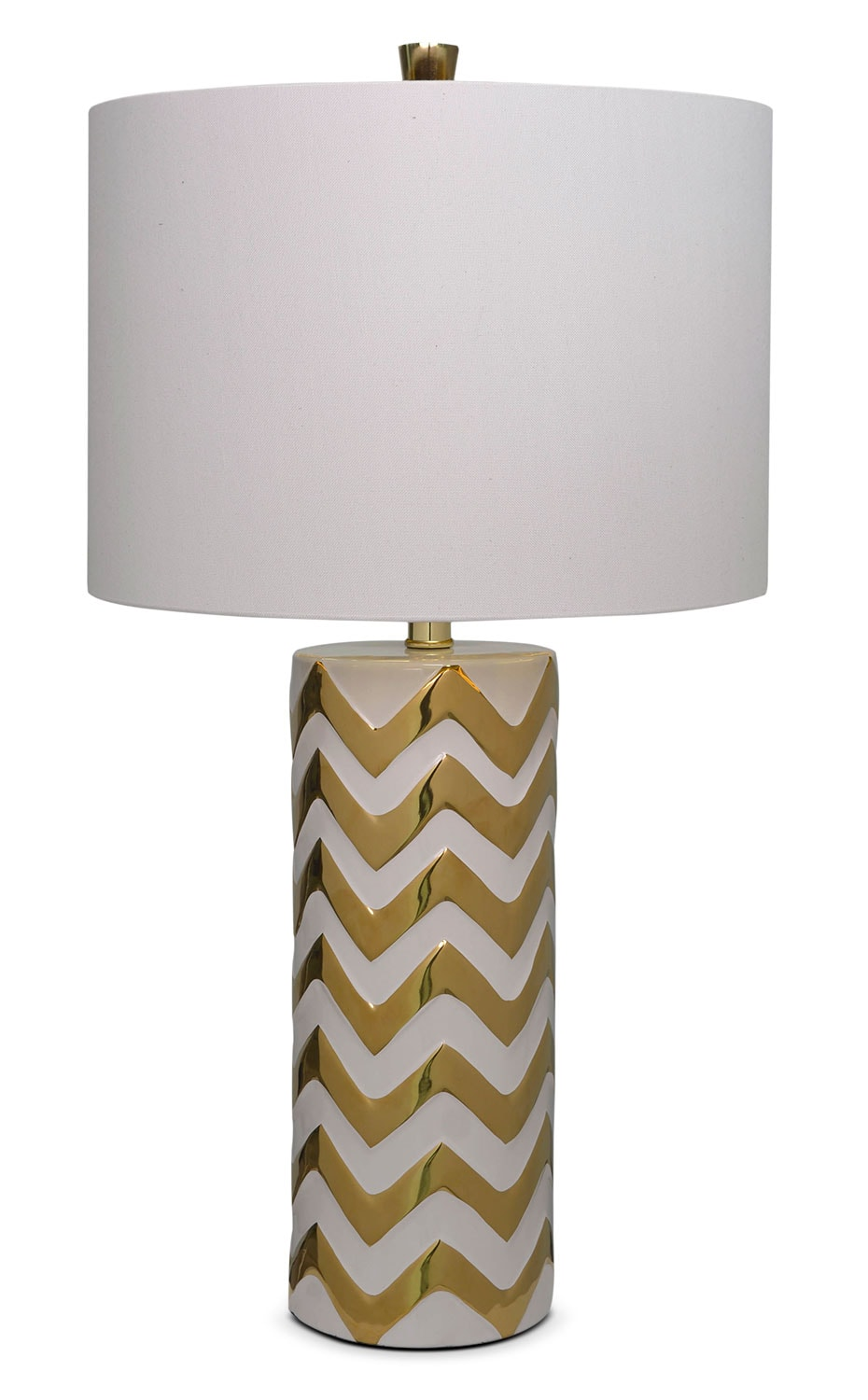 "Penelope 27"" Table Lamp - Gold and Beige"