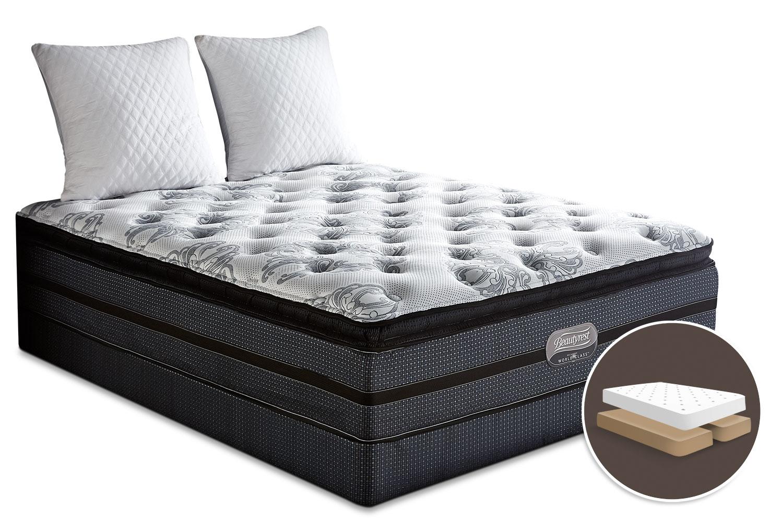 Mattresses and Bedding - Simmons Beautyrest® World Class Helmsley Pillow-Top Plush Split Queen Set