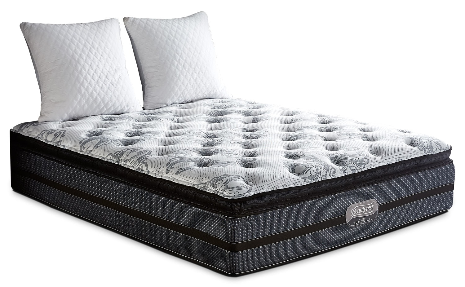 Mattresses and Bedding - Simmons Beautyrest® World Class Helmsley Pillow-Top Plush Full Mattress