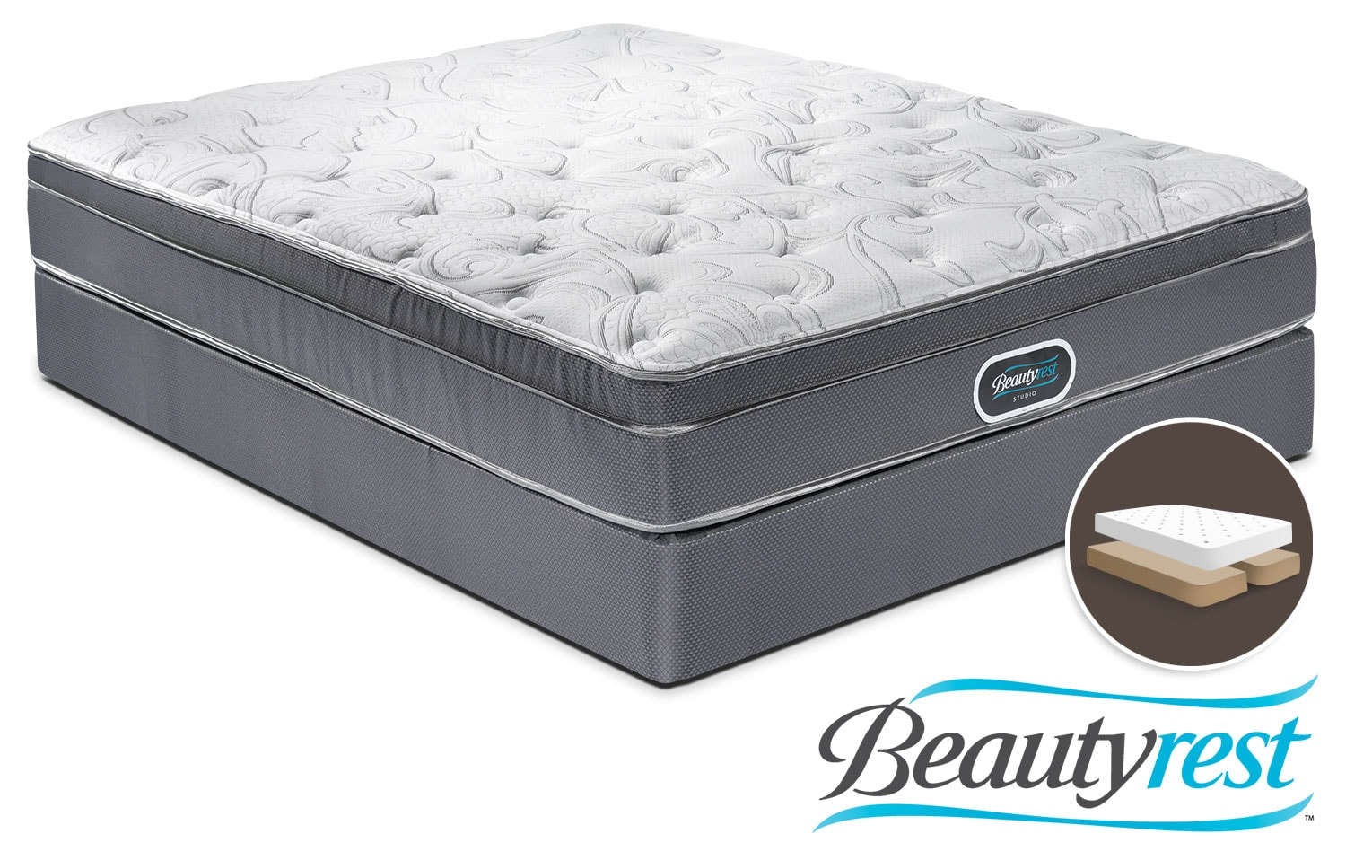 Mattresses and Bedding - Simmons Prince Edward Queen Mattress and Split Boxspring Set