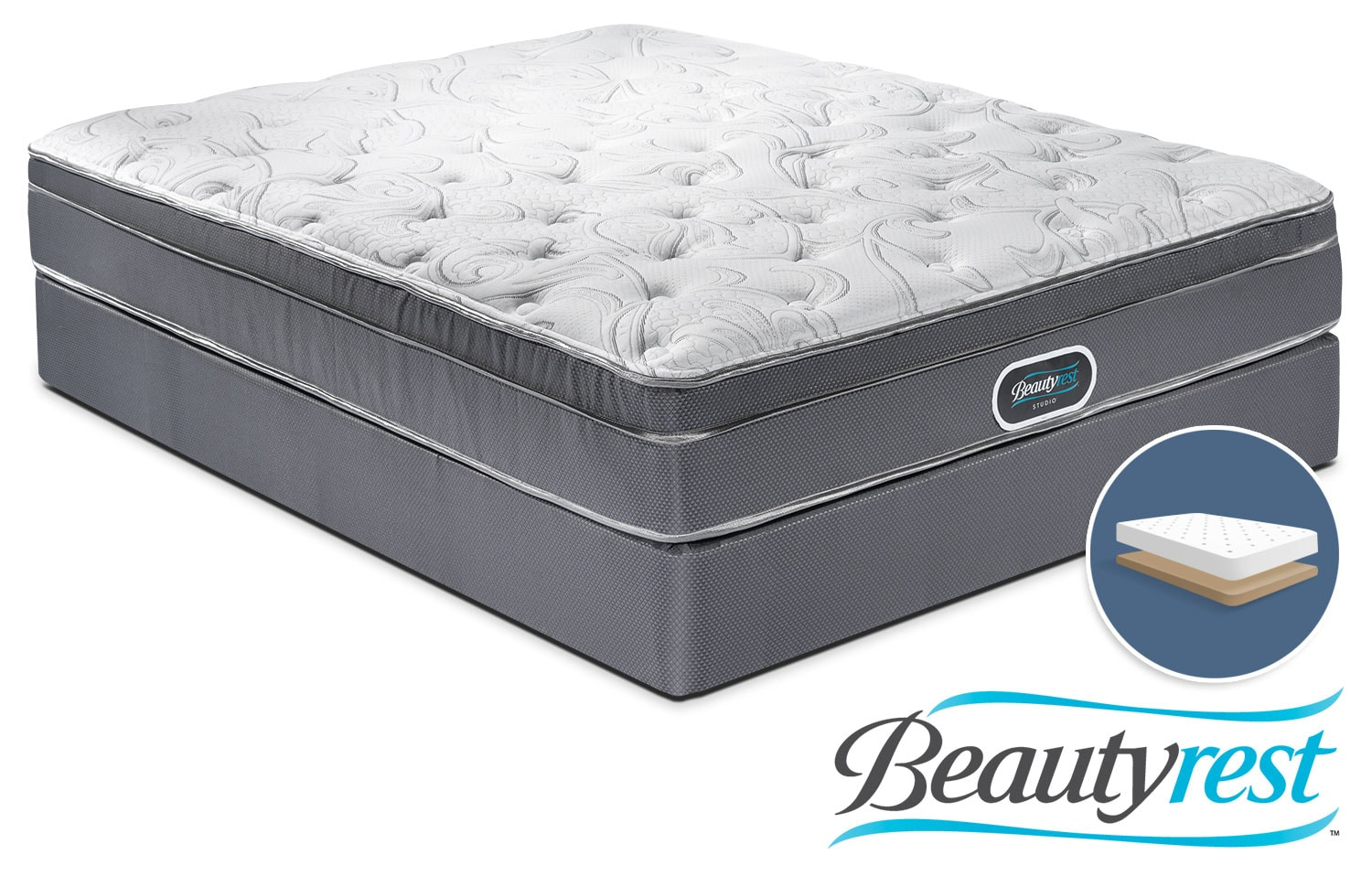 Simmons Prince Edward Twin Mattress and Low-Profile Boxspring Set
