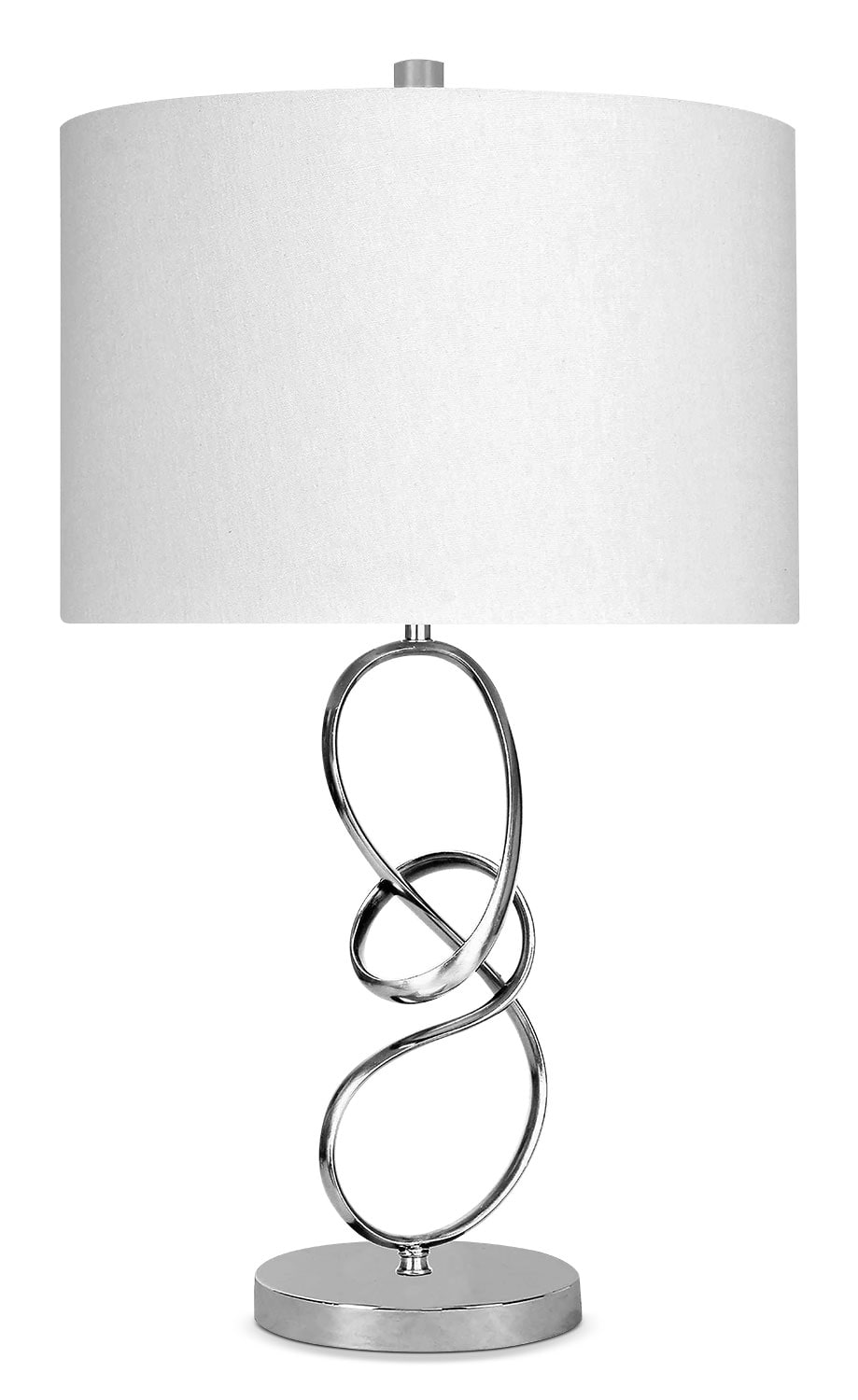 Home Accessories - Chrome Swirl Table Lamp