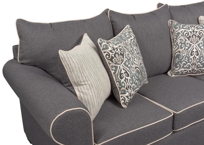 Carla Queen Memory Foam Sleeper Sofa Gray American