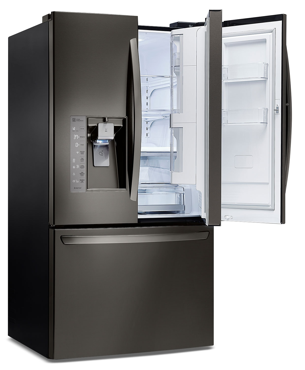 Lg Appliances Black Stainless Steel French Door