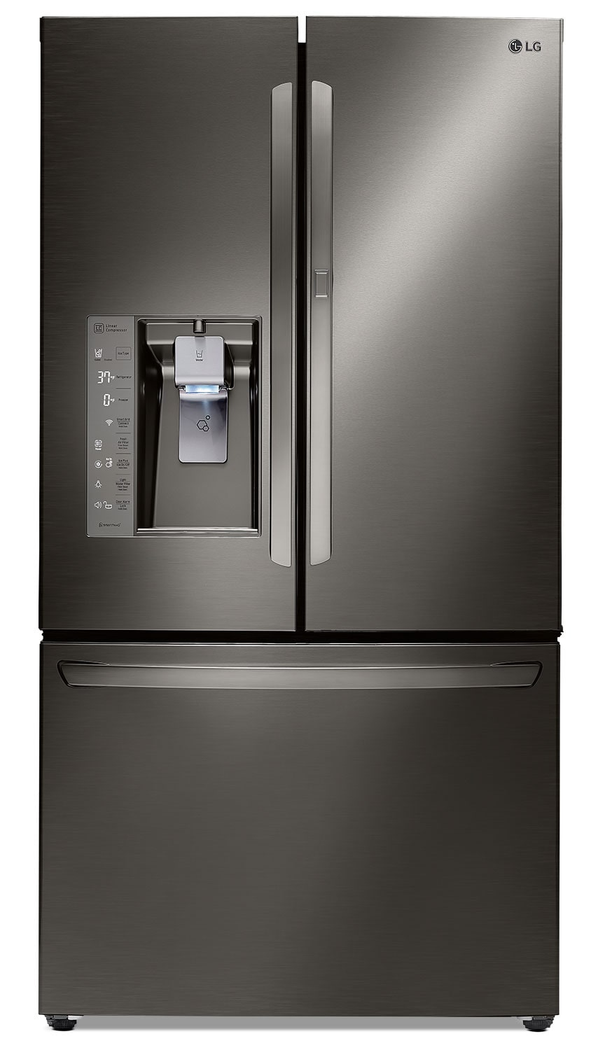 Refrigerators and Freezers - LG Appliances Black Stainless Steel French-Door Refrigerator (29.6 Cu. Ft.) - LFXS30766D