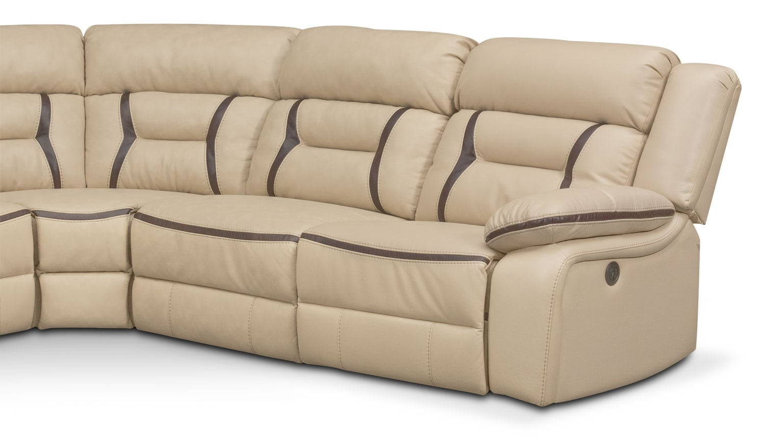 Remi 5 Piece Power Reclining Sectional With 3 Reclining