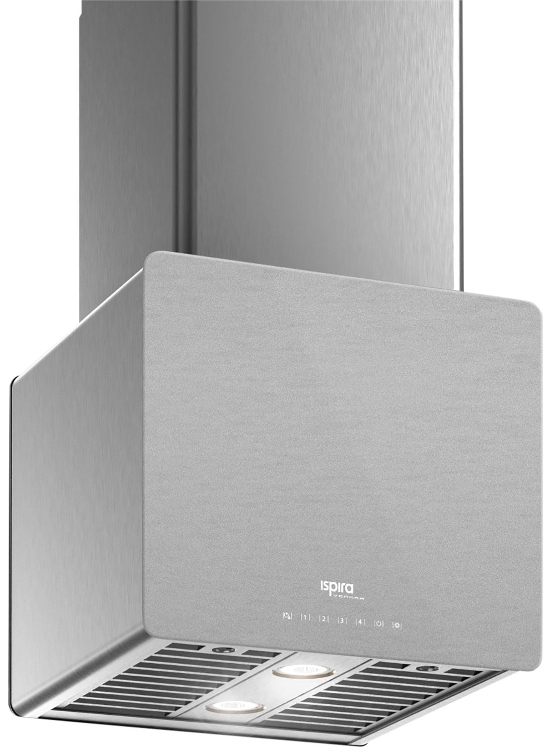"Cooking Products - Venmar Ispira 16"" Island or Chimney Range Hood – Brushed Grey Panel IK70016SS"