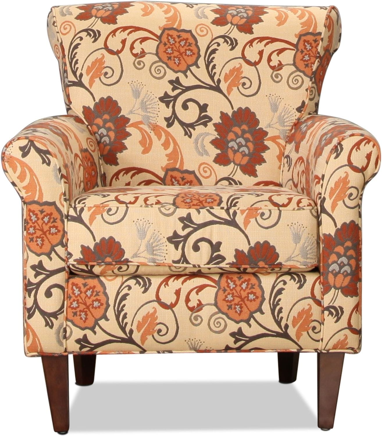 Living Room Furniture - Sunbrella Accent Chair - Floral