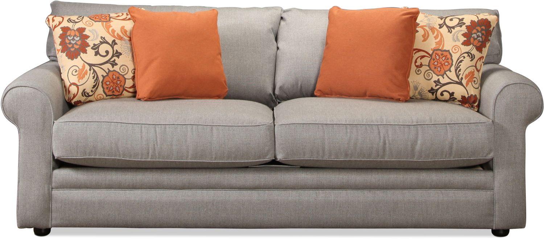 Living Room Furniture - Sunbrella Sofa - Stone