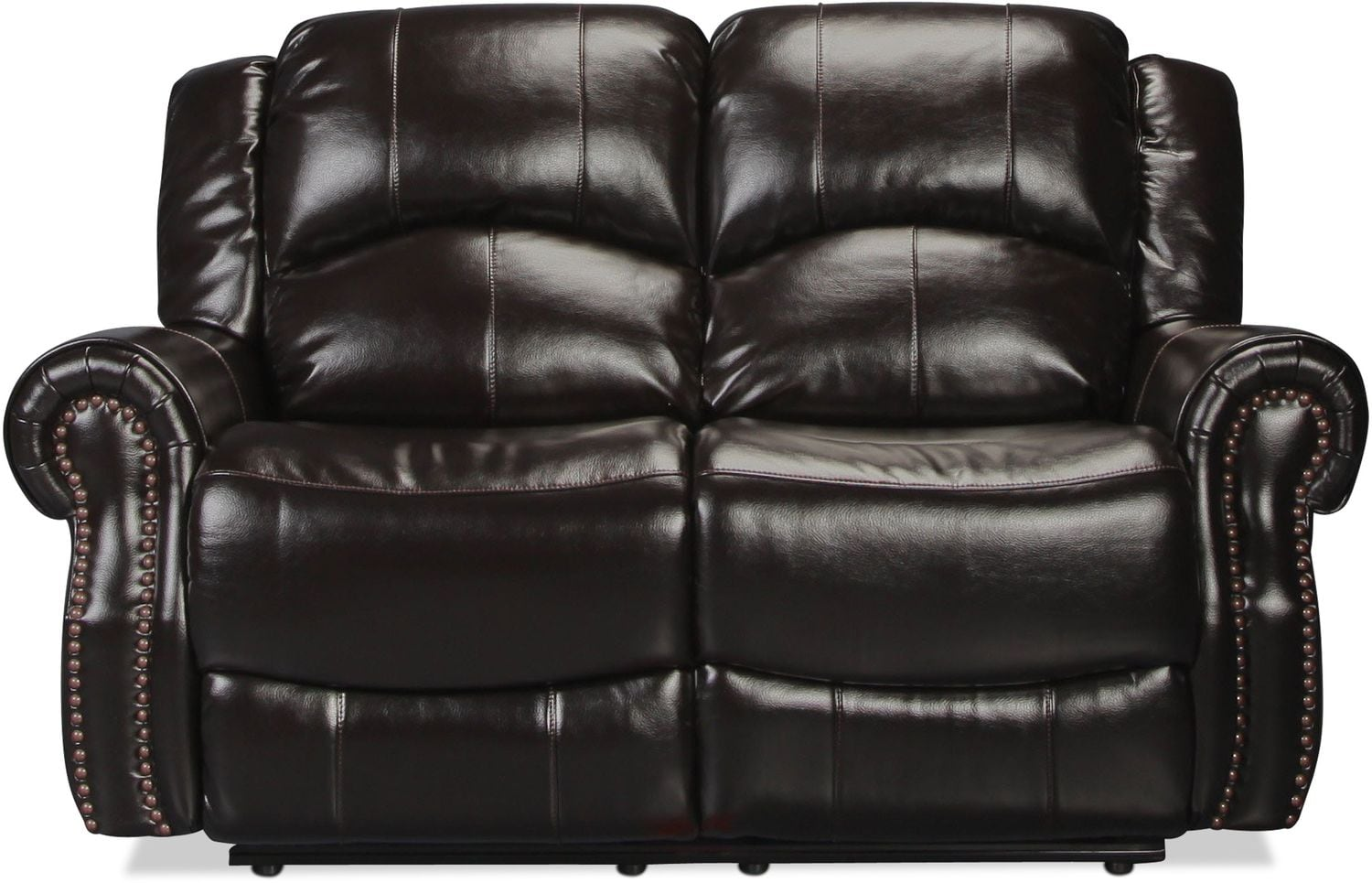 Banner Reclining Loveseat - Black Cherry