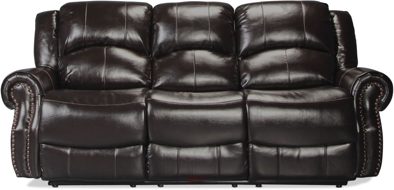 Banner Reclining Sofa - Black Cherry