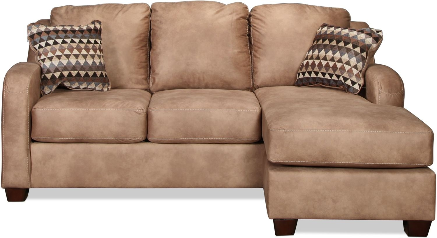 Fresno Queen Sleeper Chaise Sofa - Dune