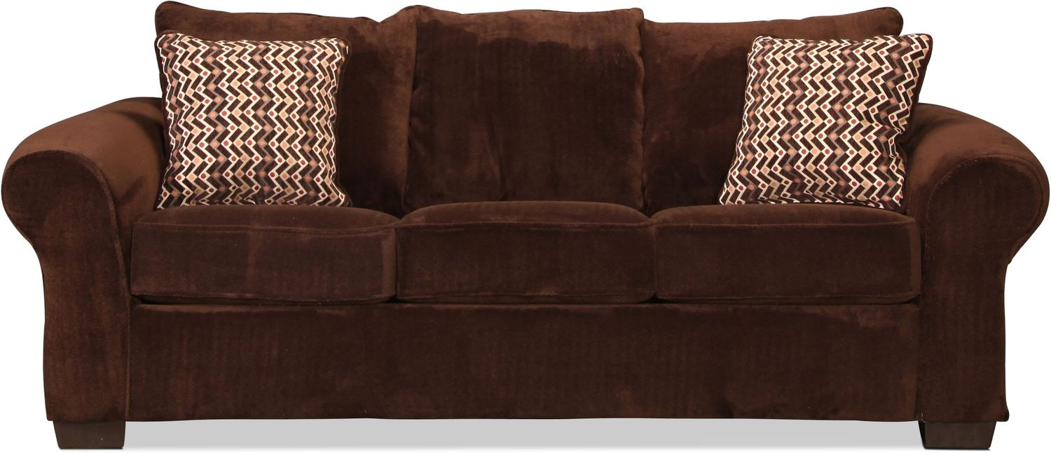 Oscar Queen Sleeper Sofa Chocolate Levin Furniture