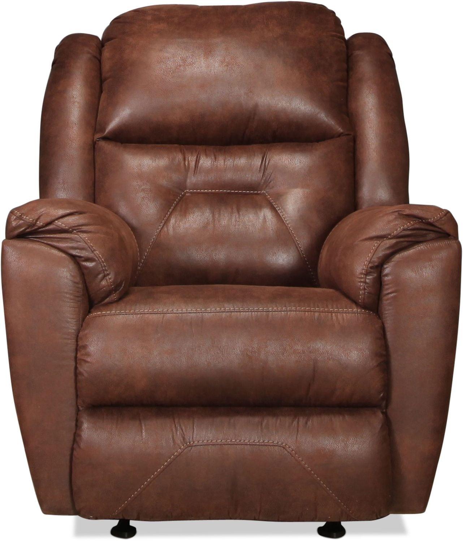Living Room Furniture - Morel Power Rocker Recliner - Mocha