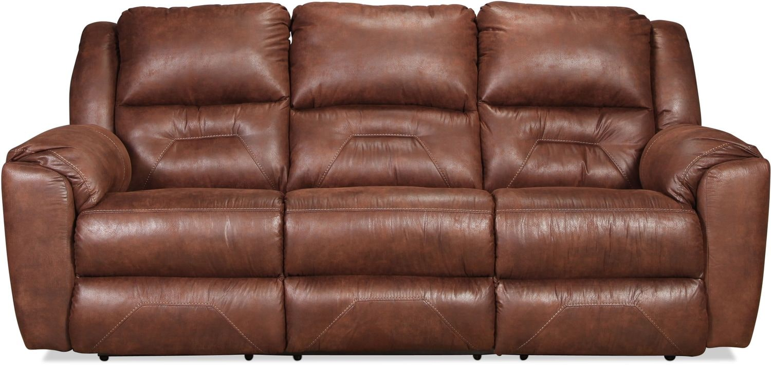 Morel Power Reclining Sofa - Mocha