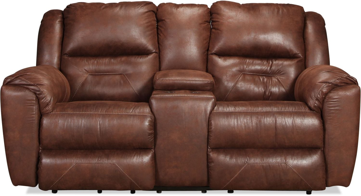 Morel Power Reclining Sofa with Console - Mocha