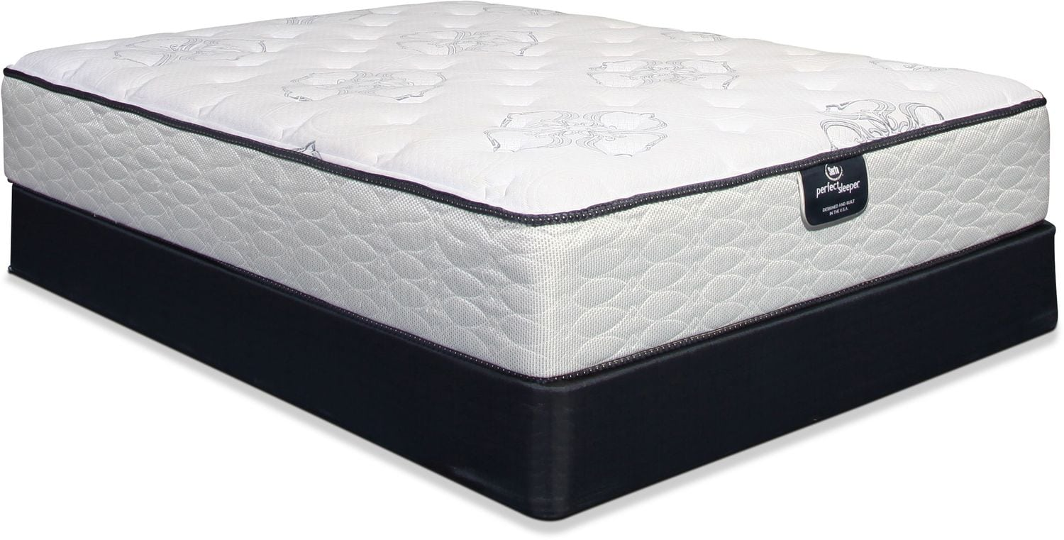 Serta Perfect Sleeper Cushion Firm Queen Mattress and Boxspring