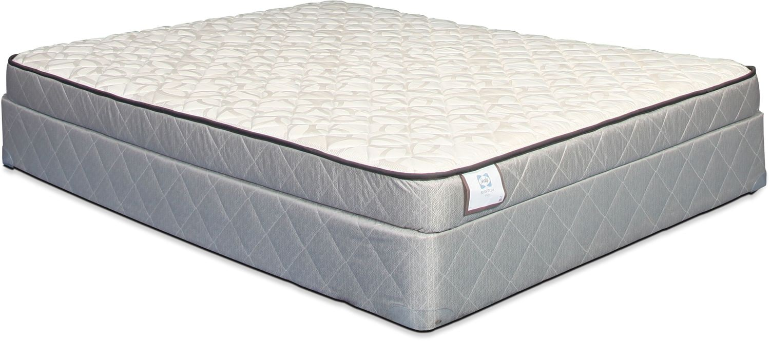Sealy Shipton Firm Full Mattress and Boxspring Set