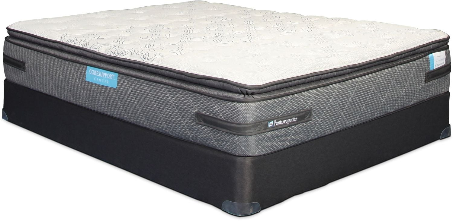 Sealy Generate Cushion Firm Pillowtop Twin Mattress and Boxspring Set