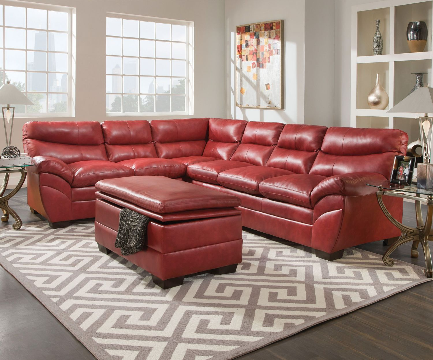 Quimby 2-Piece Blended Leather Sectional