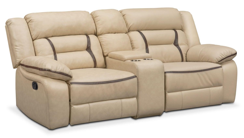 remi 3 piece reclining sofa cream value city furniture. Black Bedroom Furniture Sets. Home Design Ideas