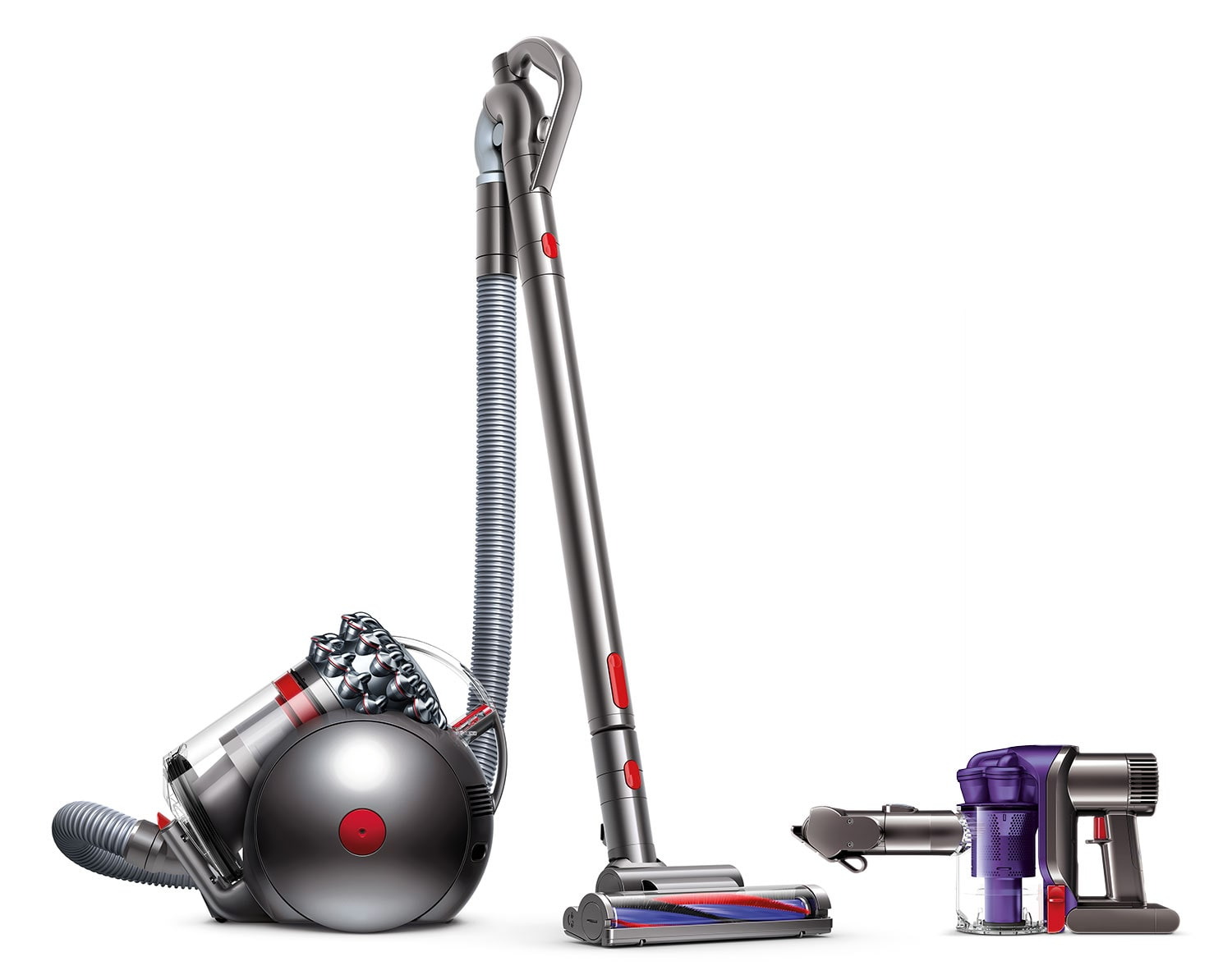 Dyson Handheld Vacuum and Cinetic Big Ball Animal Vacuum