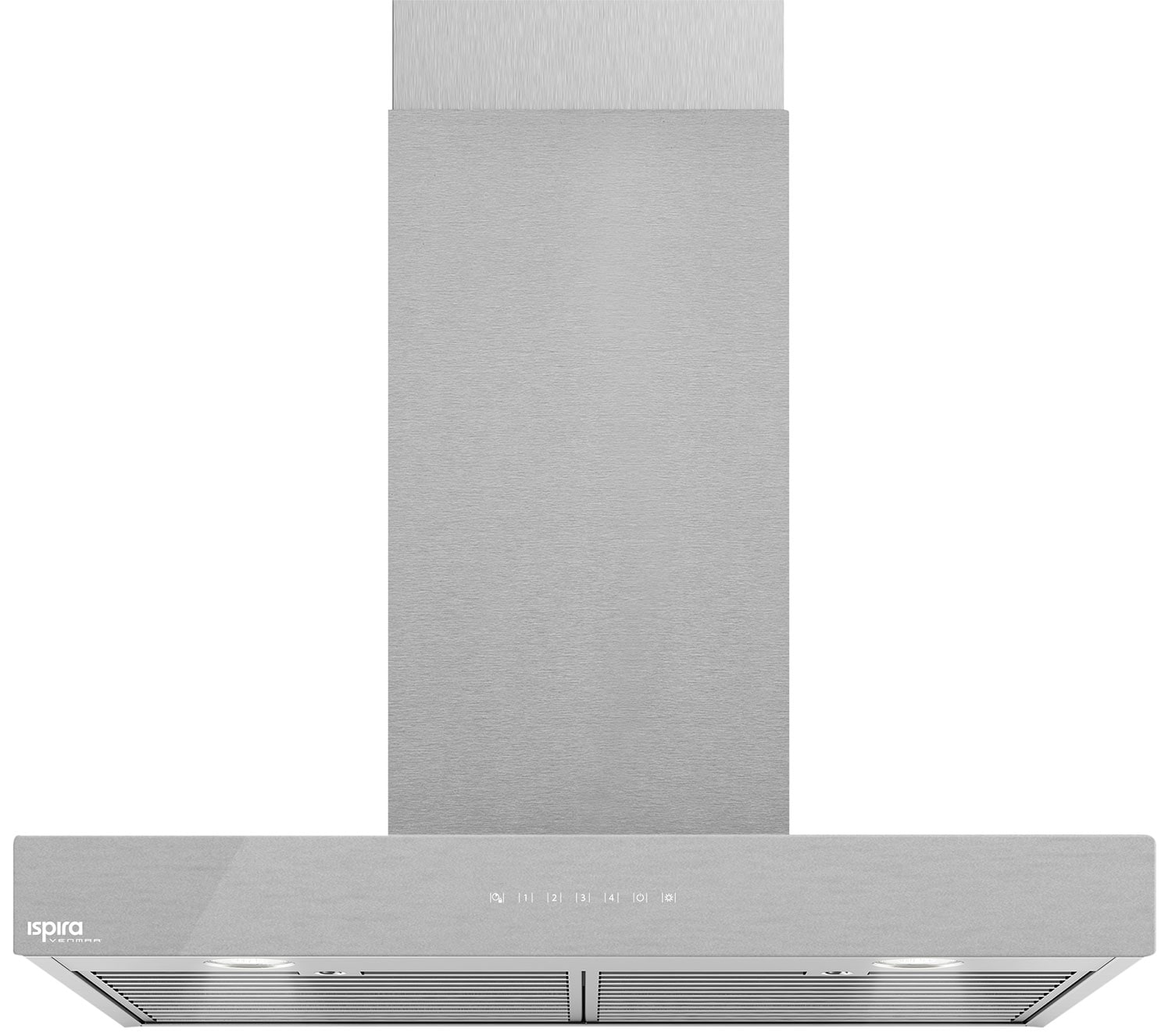 "Cooking Products - Venmar Ispira 36"" Chimney Range Hood – Brushed Grey Panel IC700ES36SS"