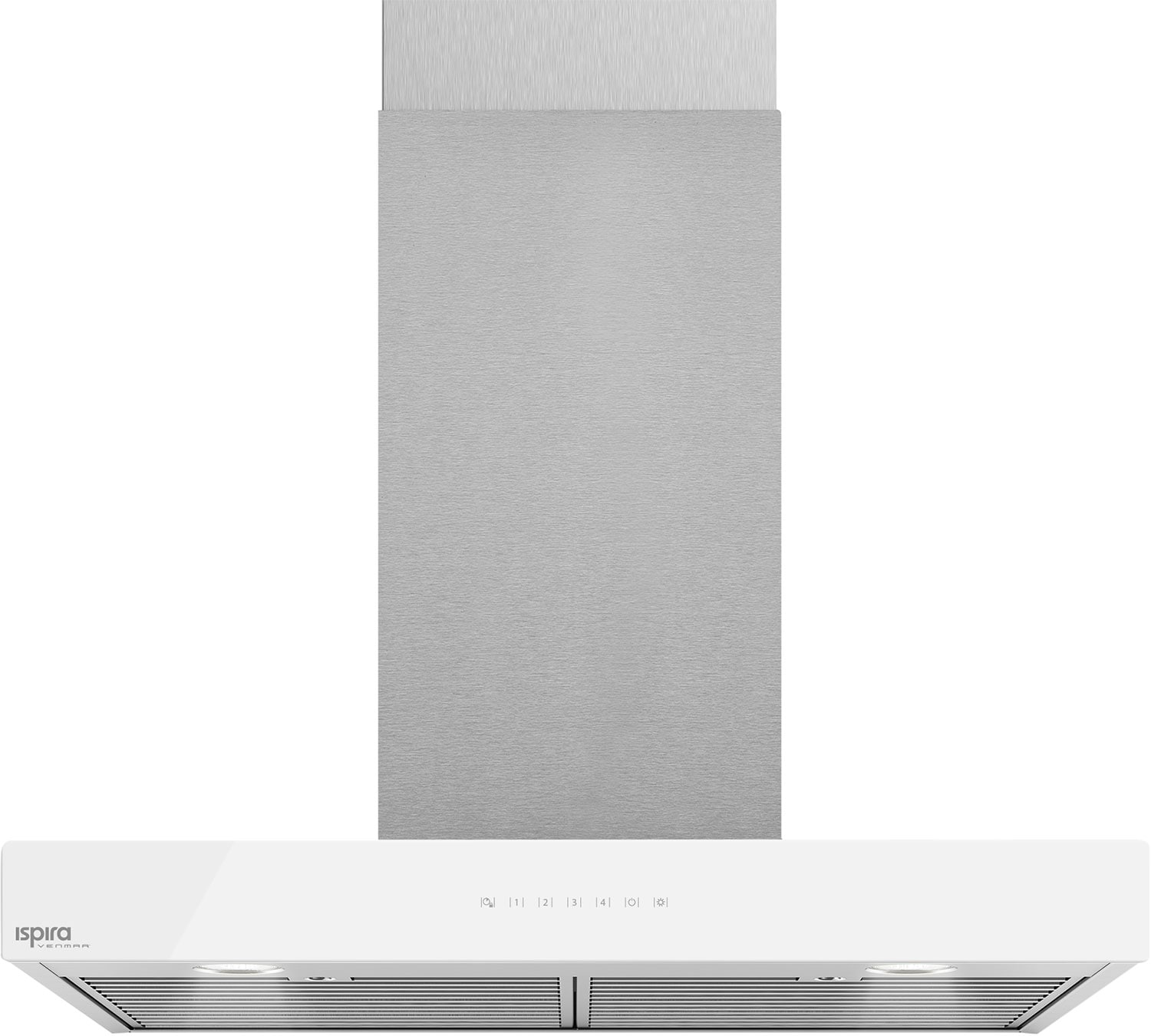 "Cooking Products - Venmar Ispira 36"" Chimney Range Hood – White Panel IC700ES36WH"