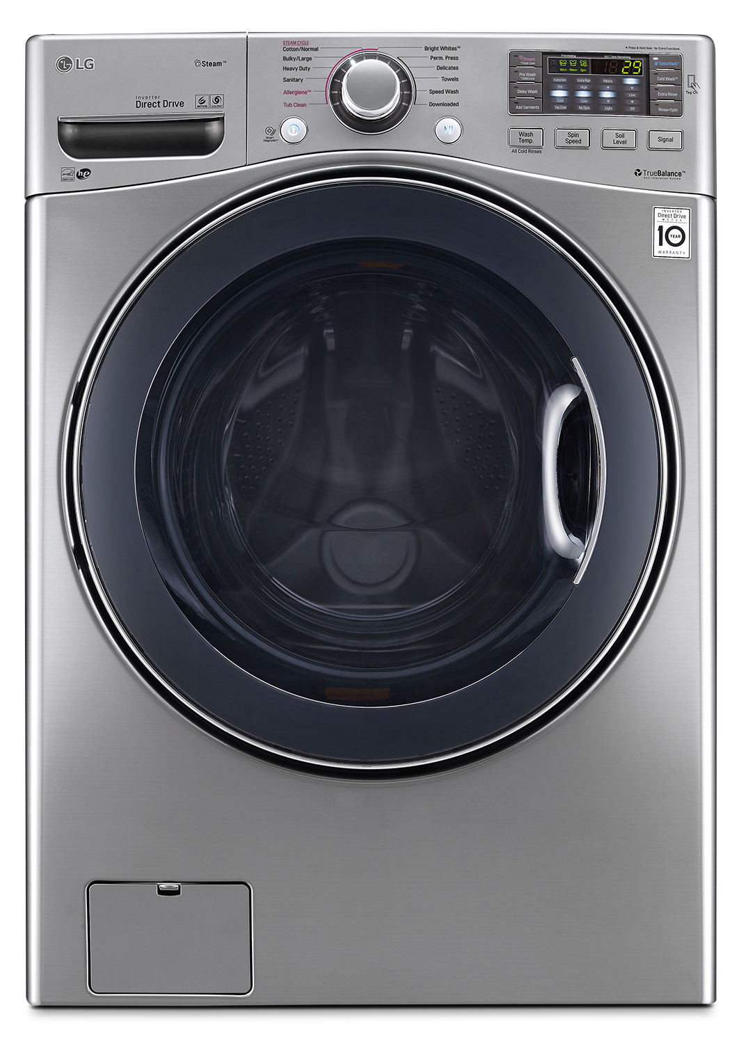 Washers and Dryers - LG 5.2 Cu. Ft. Front-Load Washer – WM3770HVA
