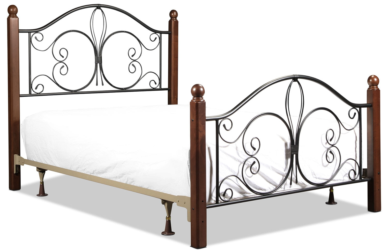 Milwaukee Full Bed - Black and Cherry