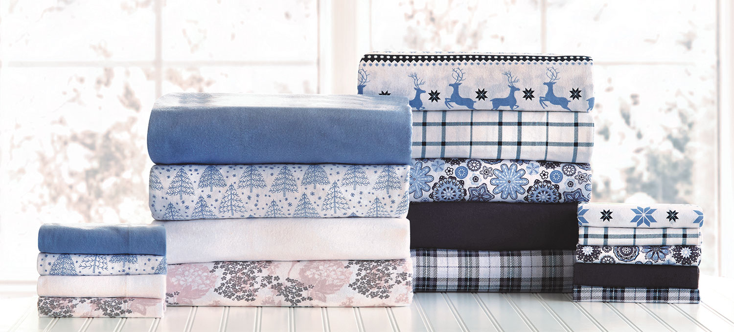 Accent and Occasional Furniture - Wintry Twin Sheet Set - Multicoloured