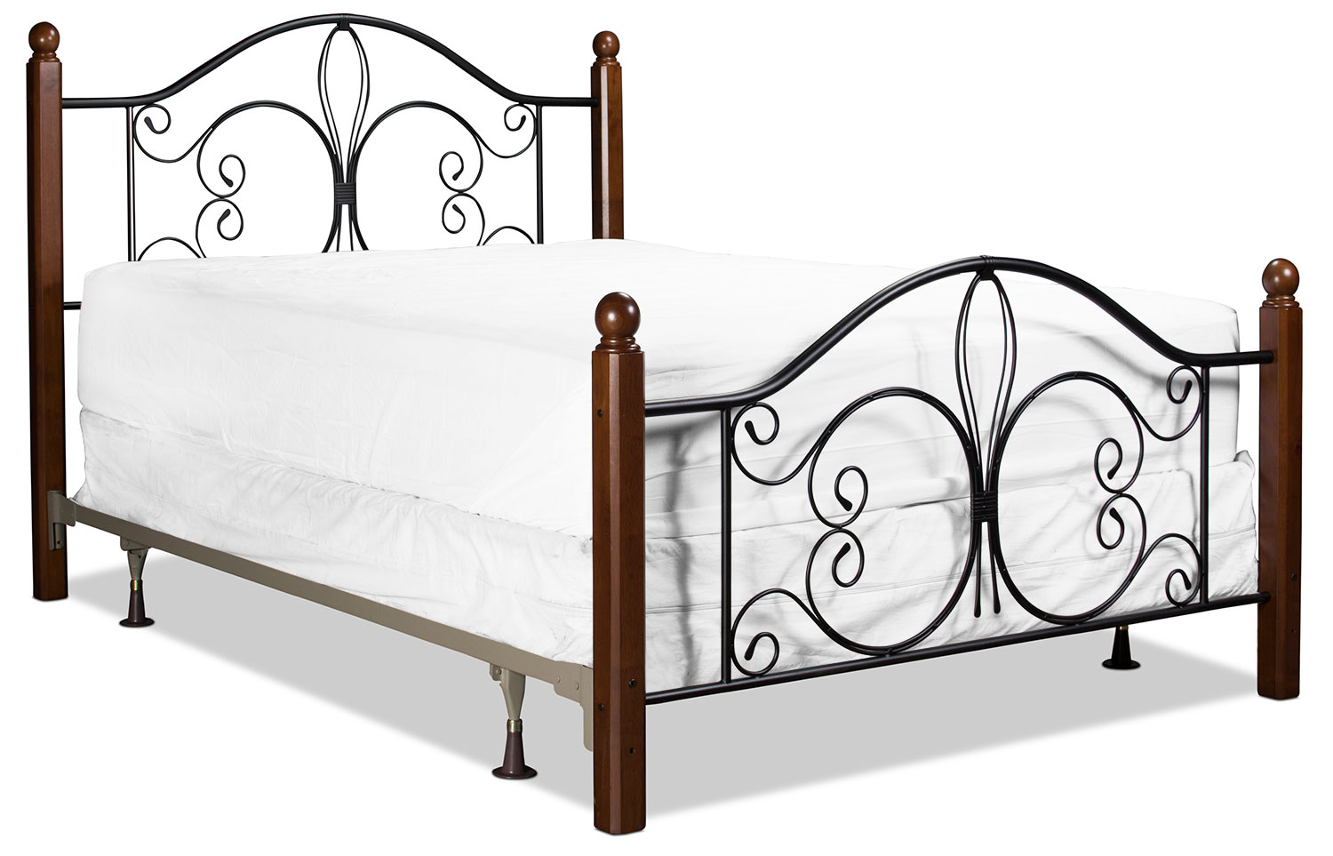 Milwaukee Queen Bed Black And Cherry Levin Furniture