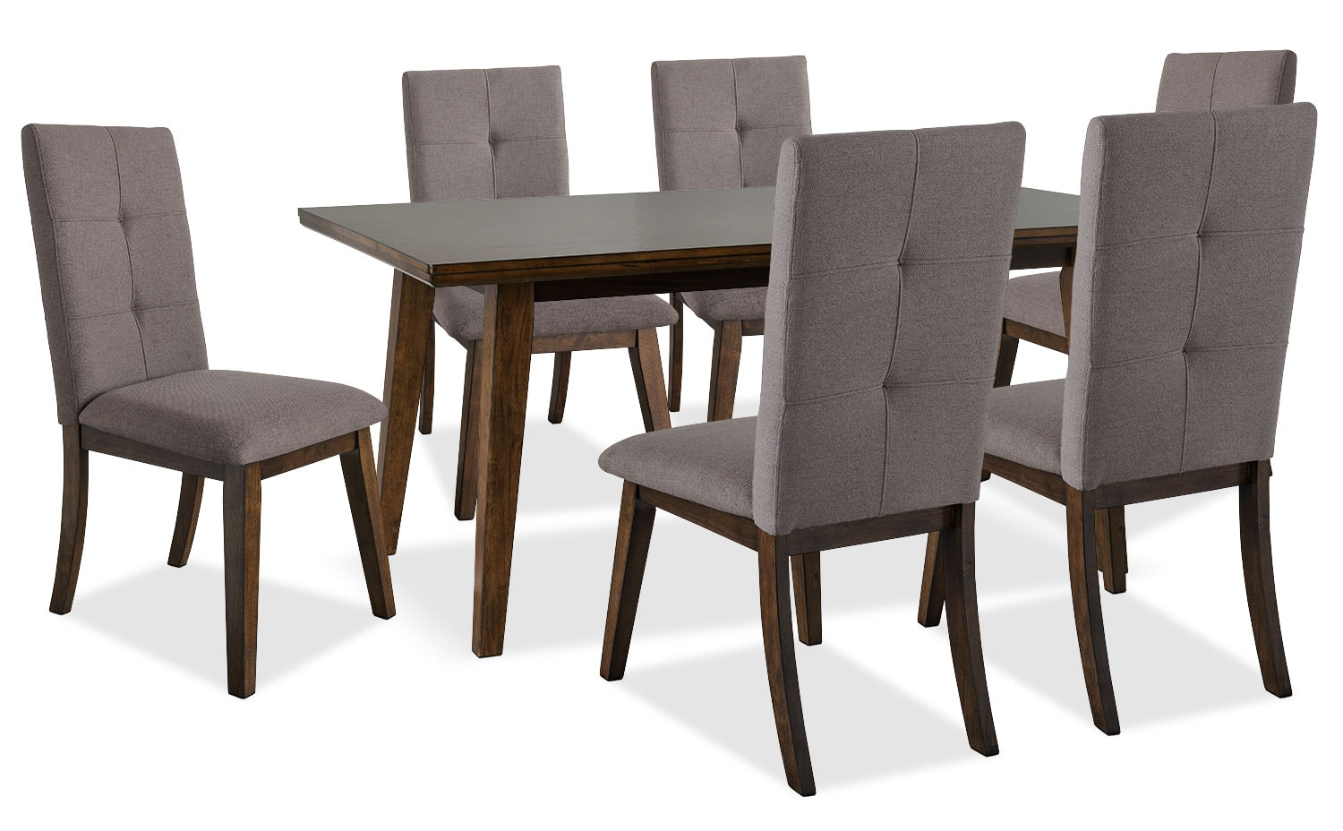 Dining Room Furniture - Chelsea 7-Piece Dining Package with Brown Chairs