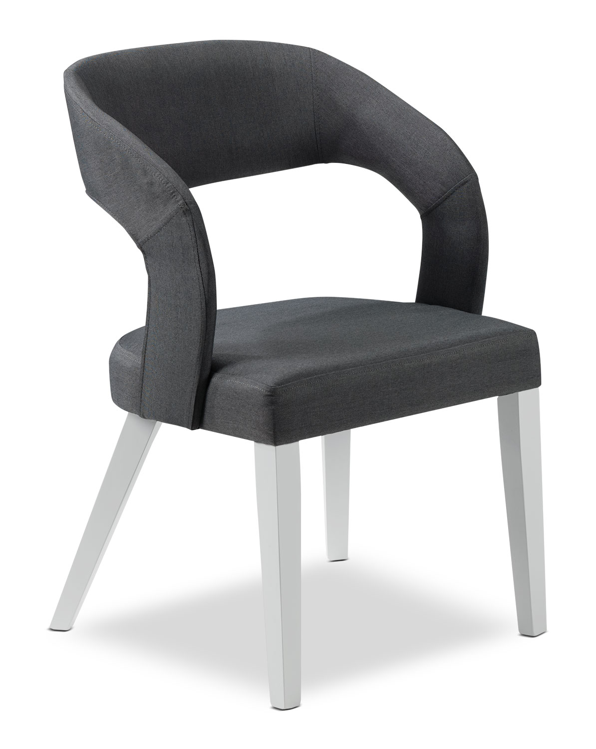 Christine Side Chair - Grey and White