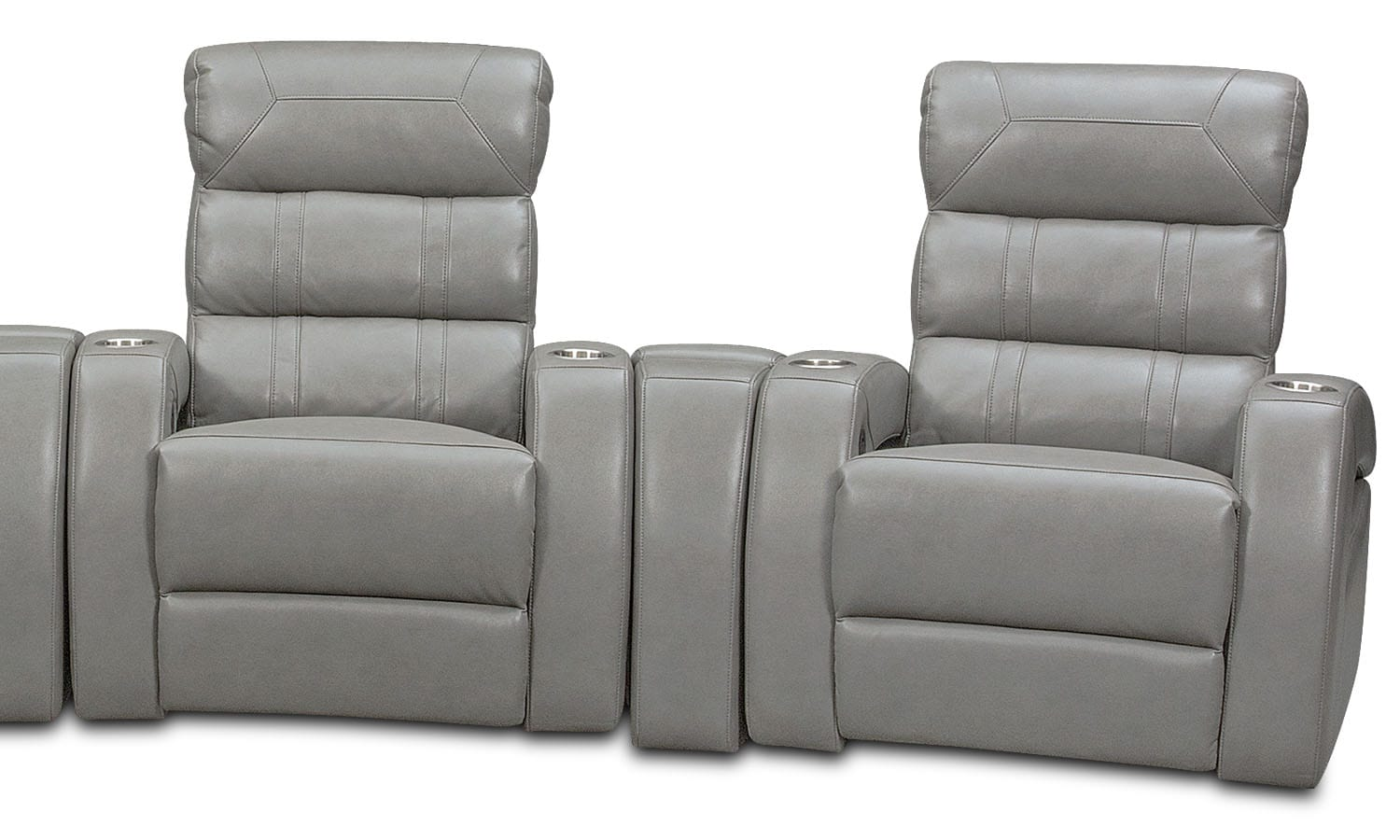 Bravo 7 Piece Power Reclining Home Theater Sectional